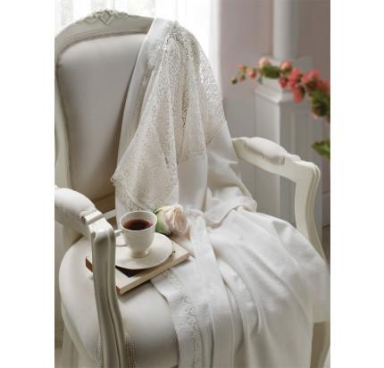 Халат Tivolyo Linda (белый) размер S-M + полотенце 50x100