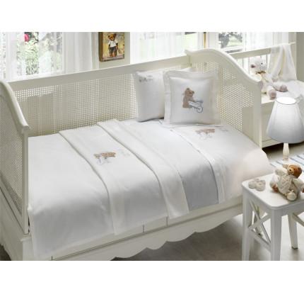 Детское белье в кроватку Tivolyo Home Pourtol Bebe (голубое)