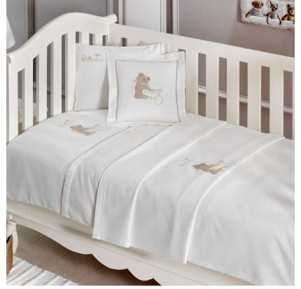 Детское белье в кроватку Tivolyo Home Pourtol Bebe (бежевое)