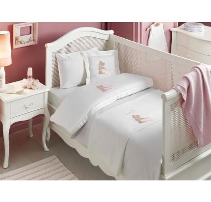 Набор в кроватку с покрывалом Tivolyo Pourtol Bebe (розовое)