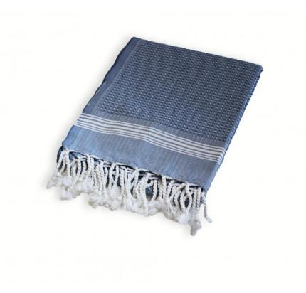 Полотенце Buldan's Tuana (белый-синий)
