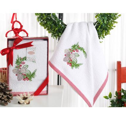 Новогоднее полотенце Karna Noel-2 V1 50x90