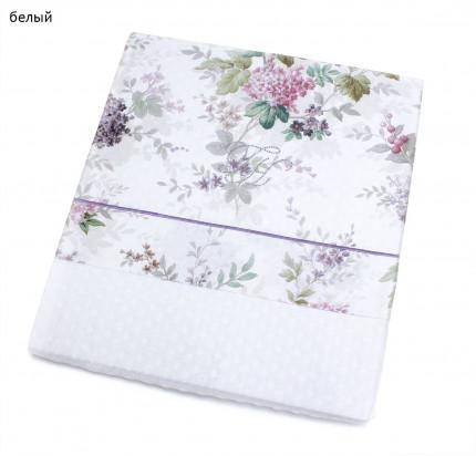 Вафельное пике Tivolyo Home Versailes с вышивкой (белое)