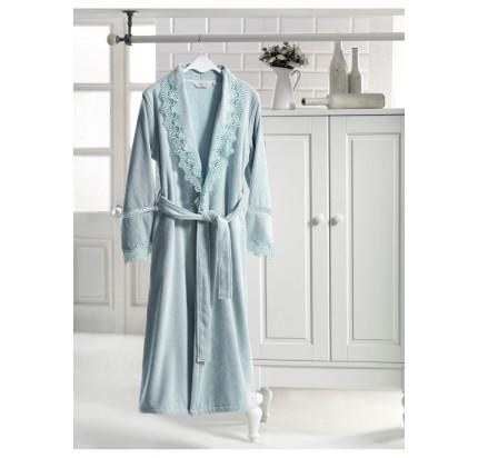 Халат женский Soft Cotton Victoria (бирюзовый)