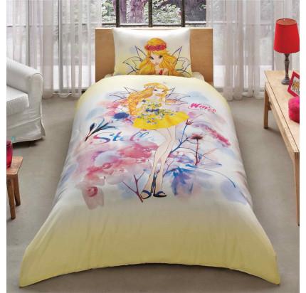 Детское постельное белье TAC Winx Stella Watercolour