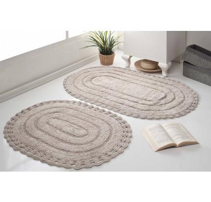 Набор ковриков для ног Modalin Yana (кофейный) 50x70+60x100