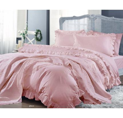 Свадебный набор Gelin Home Yasemin (розовый) евро