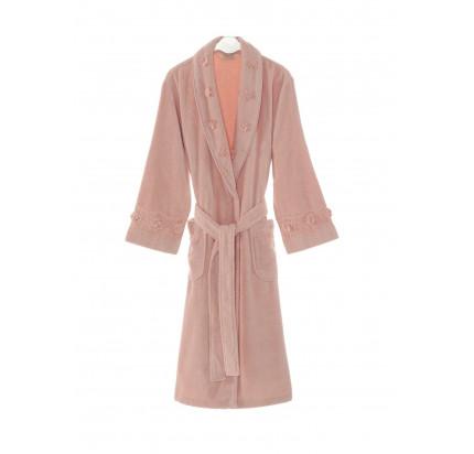 Халат женский Soft Cotton Yonca (розовый)