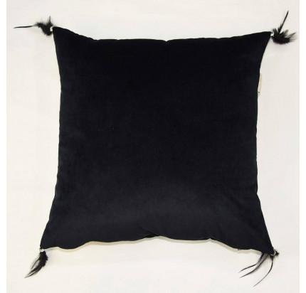 Декоративная наволочка Sofi de Marko Жасмин (черная) 45x45