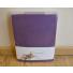 Сатиновая простынь Tivolyo с наволочками (фиолетовый)