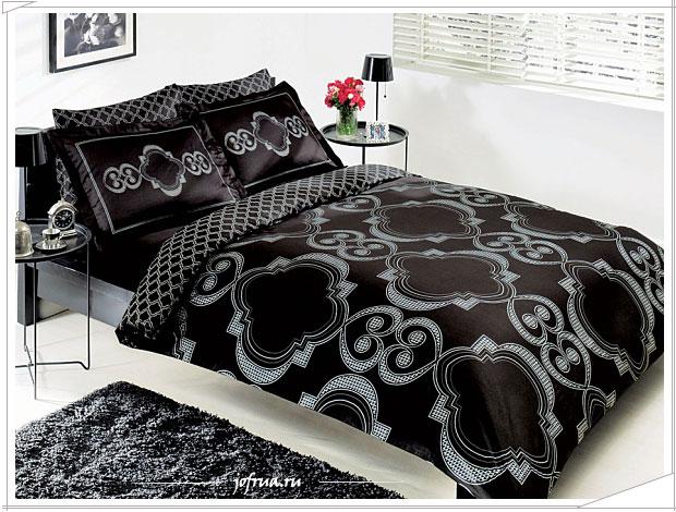 Постельное белье чёрного цвета